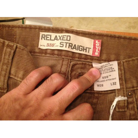 Pantalon Original Levis, Color Marron De Pana
