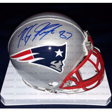 Mini Casco Autografiado Rob Gronkowski New England Patriots
