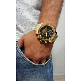 5537ec8124 Relogio Masculino Cor De Ouro Barato - Relógios no Mercado Livre Brasil