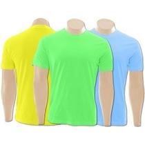 4 Camisetas Dry Fit Poliamida Do P Ao Gg Uv 50+