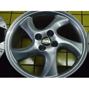 Roda 17 Porsche 4x100 Prata E Grafite Gol Fusca Stilo Astra