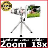 Lente Para Celular Universal Melhor Zoom 18x Samsung Iphone