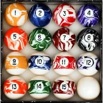 Bolas De Billar Pool Table Billiard Ball Set Marble/swirl