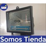 Reflector Con Bombillo Halogeno 500w Negro 110v 042801
