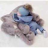 Almofada Travesseiro Elefante Bebê Dormir 75 Cm Cinza