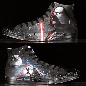 Converse Star Wars Darth Vader Sith Pintados A Mano