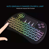 Mini Teclado Iluminado Rgb Inalambrico Pc Smart Tv Box Gsp1