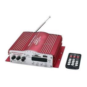 Módulo Potência Amplificador Carro 200w 4 Canais Mp3 Usb