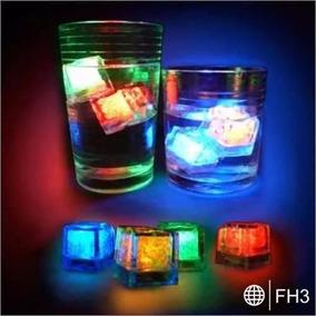 Hielos Luminosos Luz Led Fiestas Bebidas Bodas Animacion