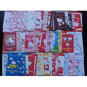 Lote 80 Conjuntos Mini Papéis De Carta Hello Kitty 40 Anos