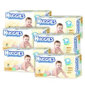 Caja De Huggies Ultraconfort E2 6 Paquetes - 228 Pañales