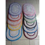 Tapete De Porta Em Crochê Várias Cores