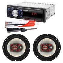 Aparelho De Som Rádio Multilaser + Antena + Bravox 6 Pol.