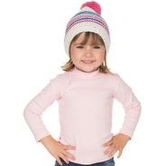 Roupa Infantil Menina Blusa Gola Alta Manga Longa Inverno