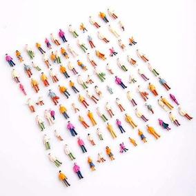 100 Figuras Humanas Em Pe Ho 1:87 Em Plastico