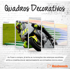 Quadro Decorativo Moto Gp Piloto The Doctor 46 2,0x1,0m