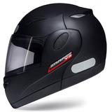Capacete Moto Robocop Taurus Bullitz Zarref V3 Preto Fosco