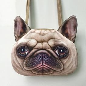 Bolsa Mochila Pets Cachorro Veludo Maquiagem Celular Perfume