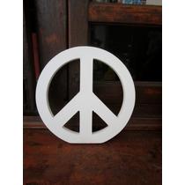 Simbolo De La Paz Madera Blanca 20x20