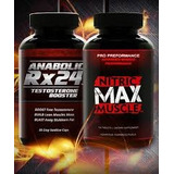 Anabolic Rx24 X60cap + Nitric Max Muscle X90 Caps