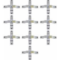 Kit 10 Suporte Para Refletores Pe De Galinha Pequeno Prata