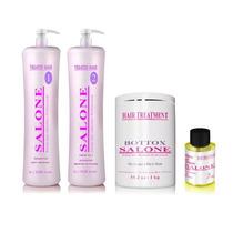 Kit Escova Definitiva Salone Efeito Liso 100% + Brinde Botox