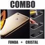 Kit Funda Aluminio Y Cristal Huawei G Elite P9 Lite Gr3 L13