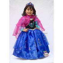Disfraz De Elsa O Ana Princesa De Frozen Vestido Princesas