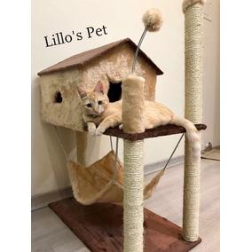 Brinquedo Casa Com Rede+kit Gato
