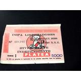 River Plate 1986 Entrada Copa Libertadores Vs Independiente