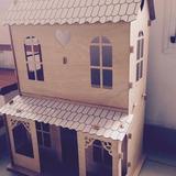 Casa De Muñecas En Madera De Guatambú #diadelniño