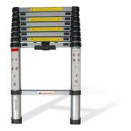 Escalera Telescópica 11 Escalones 150 Kgs 3.2m Aluminio