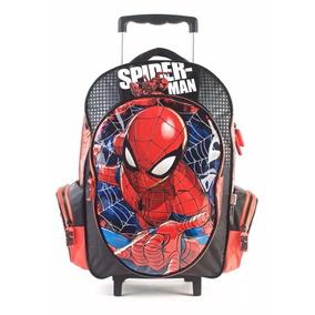 Mochila Con Carro 17 Spider-man 2017 Wabro