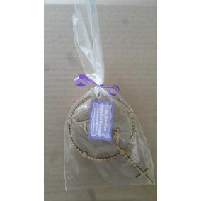 Paquete 50 Rosarios 15cm Con Tarjeta Al Natural