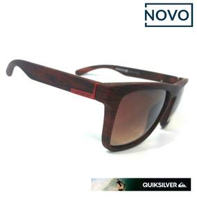 44e10a0845a92 Oculos Quiksilver De Madeira Sol - Óculos De Sol no Mercado Livre Brasil
