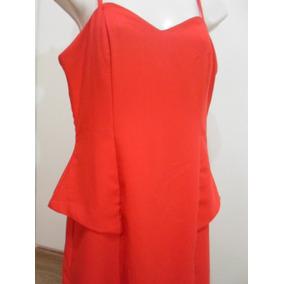 Vestido Vermelho Rery Tamanho P - Veja O Defeito