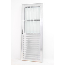 Porta De Aluminio Linha 25 Anod. Bril. 2.10 X 0.80 Social
