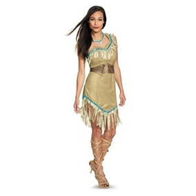 Disfraz Traje Adulto De Lujo De Pocahontas Disfraz Mujeres