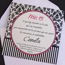 Participaciones Invitaciones + Sobre - Fiesta 15 /casamiento