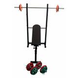 Kit Musculação Residencial Inovacorpo 06 Com Anilhas Barras