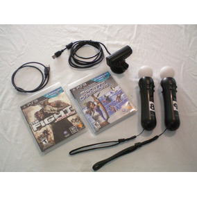 Kit Movie Com Camera + 2 Controle Ps3 + The Fight + Sports