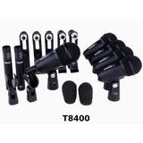 Kit De 7 Micrófonos Para Batería Alctron T8400 Envió Gratis