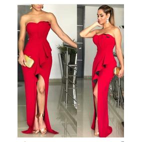 Hermoso Vestido De Fiesta, Rojo, Importado.
