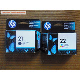 Cartucho De Tinta Hp 22 Color Y Hp 21 Black