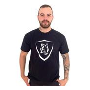 Camiseta Brasão Lobo Preto C004