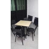Juego 4 Sillas Karla Y Mesa Madera Para Cafe Bar Restaurante