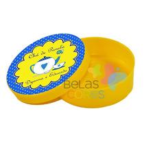 100 Latinhas De Plástico + 100 Adesivos Personalizadas