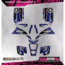 Kit Calcos Grafica Yamaha Blaster 200 - Atv - Laminado 3m