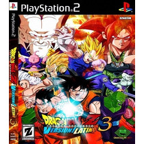 Dragon Ball Z Budokai Tenkaichi 3 Versão Latino Patch Ps2