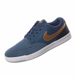 Zapatillas Nike Sb Fokus Azul Dorado Nº 45 Original Nueva .